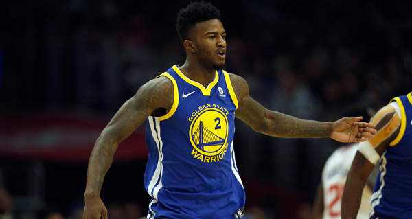 Warriors rookie Jordan Bell leaves court in wheelchair after scary ankle sprain
