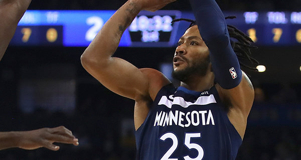 Timberwolves' Derrick Rose, Robert Covington, Jeff Teague out for rest of season