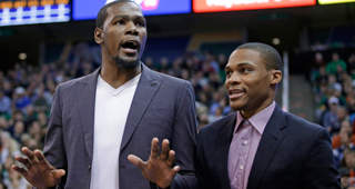 James Harden: Durant, Westbrook 'Have To Figure It Out Themselves'